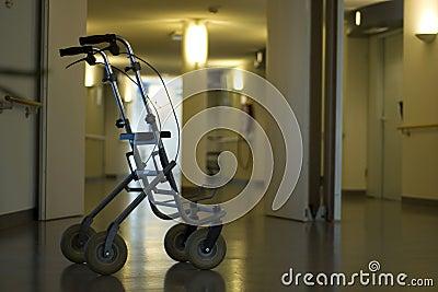 Walker in hall hospital