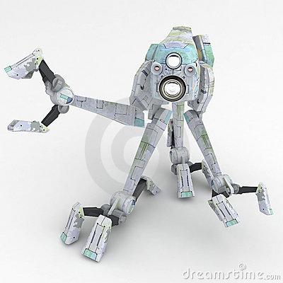 Walker Robot, Grey