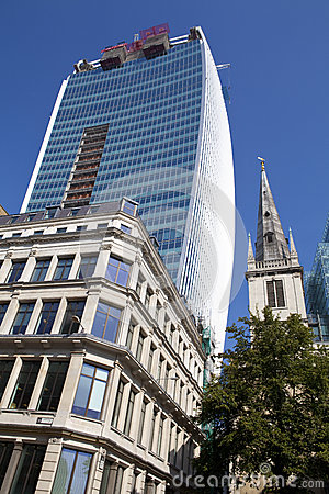 The Walkie Talkie Building in Fenchurch Street Editorial Stock Image