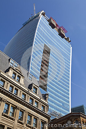 The Walkie Talkie Building in Fenchurch Street Editorial Stock Photo