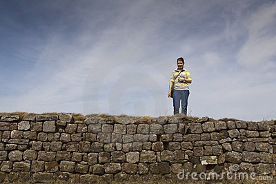 Walking Along Hadrians Wall