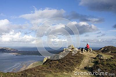 Walking around Conwy Mountain
