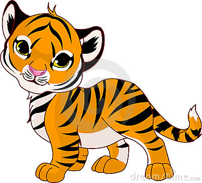 Free Walking Baby Tiger Stock Photography - 17395132
