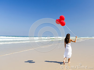 Walking with ballons