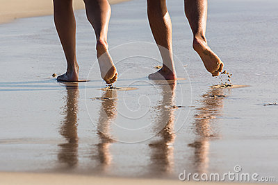 Walking on the beach