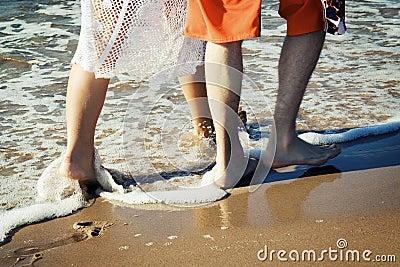 Walking on the beach.