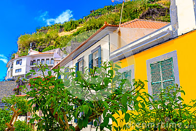 Streets of Ponta do Sol Stock Photo
