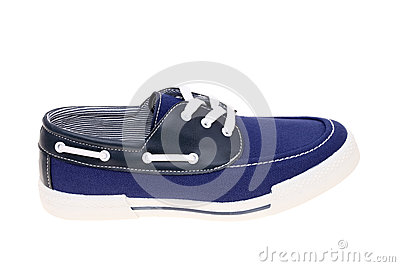 Walking blue shoe