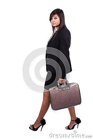 Walking Businesswoman