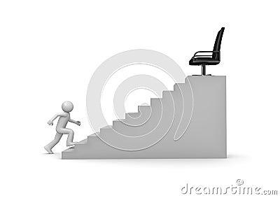 Walking on career ladder