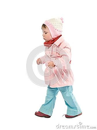 Free Walking Child Royalty Free Stock Photo - 9323305