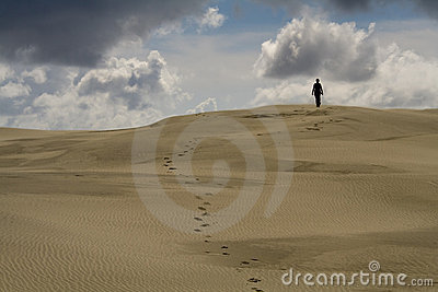 Walking In The Desert Stock Image - Image: 6273231