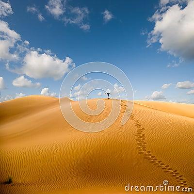 Walking in desert