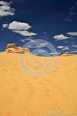 Walking on Desert,Western Australia