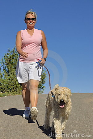 Walking with dog