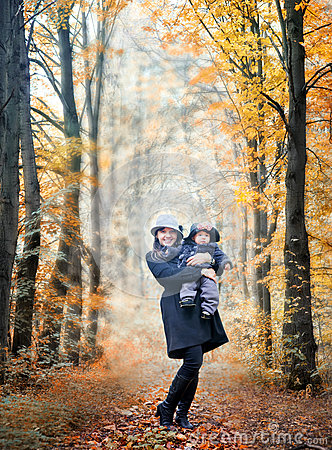 Free Walking In An Autumn Park Royalty Free Stock Photo - 26825055