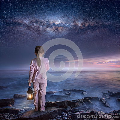 Free Walking Into The Night Royalty Free Stock Photos - 91220258