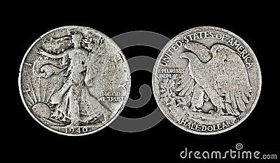 Walking Liberty Half Dollar, 1940
