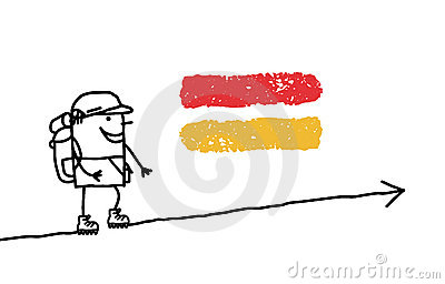 Walking man & GR sign