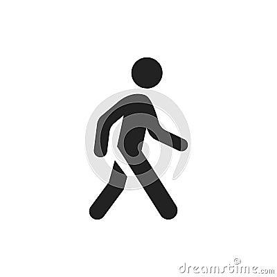 Free Walking Man Vector Icon. People Walk Sign Illustration Stock Image - 95984801