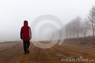 Walking Mist Dirt Road Male