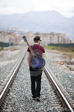 Free Walking Musician Royalty Free Stock Photo - 13800145