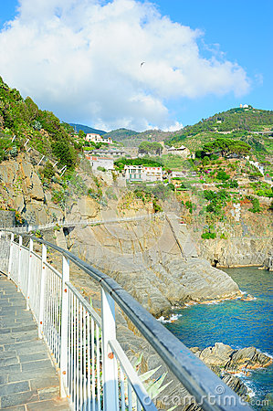 Walking path in Monterosso village