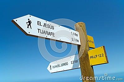 Walking Path signposts