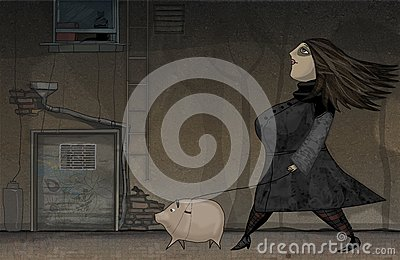 Walking with pig