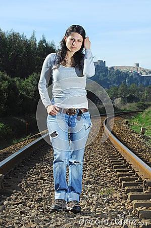 Walking on a railway