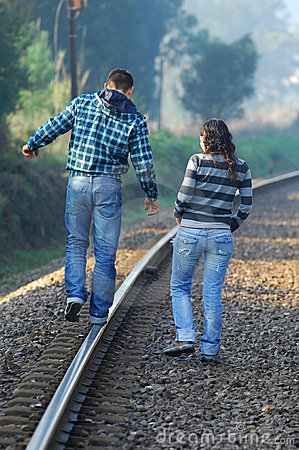 Walking on railway tracks
