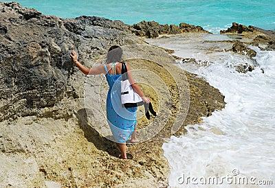 Walking On A Rock