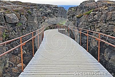 Walking through the rocks