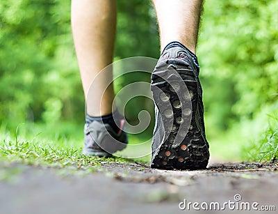 Walking running, sport and exercising