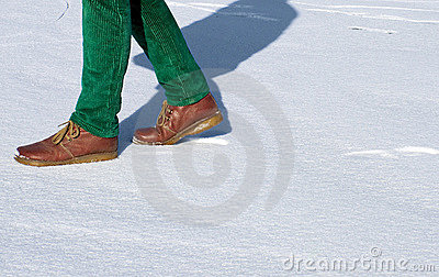 Walking on snow