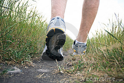 Walking sports shoe in summer