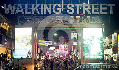 Walking street Editorial Photography