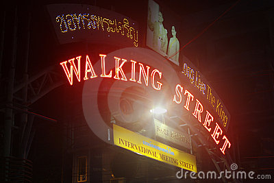 Walking Street Pattaya Editorial Stock Image