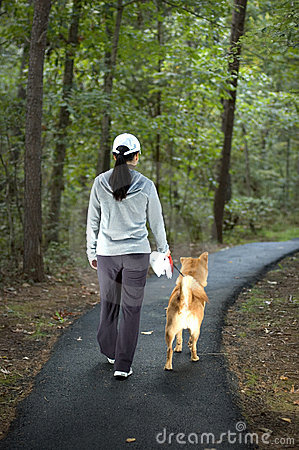 Free Walking The Dog Stock Photography - 1307732