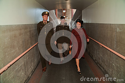 Walking to the Troop Train Editorial Stock Image