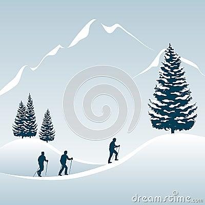 Walking tour in winter
