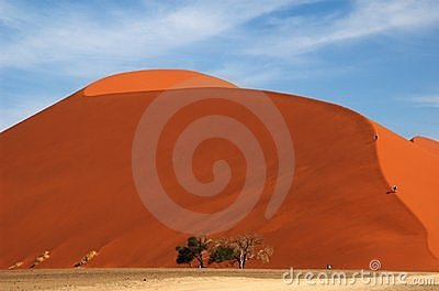 Walking up dune 45 in total