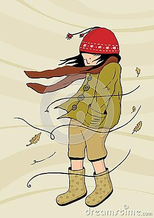 Walking in windy weather