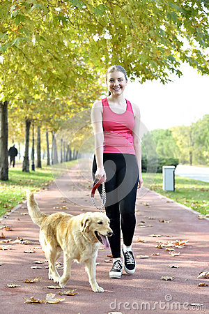 Free Walking With Dog Stock Images - 35269004