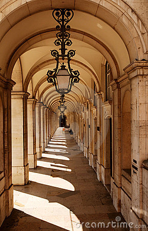 Walkway with arches