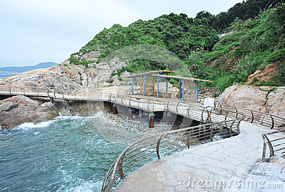 Walkway at coast