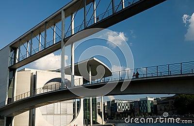 Walkway connecting buildings
