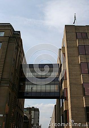 Walkway linking office buildings