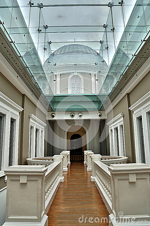 Walkway through Museum