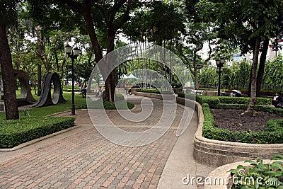 Walkway in park